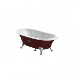 Bañera oval de fundición...