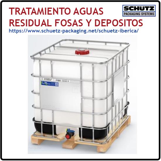 Tratamiento agua residual, fosas y depositos