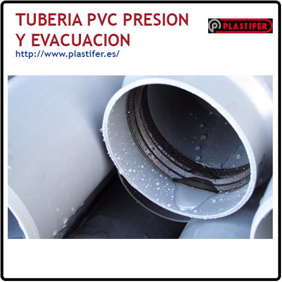 Tuberia PVC presion y evacuacion